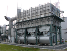 Dried-synthetic rubber waste incinerator (Kashima Plant)