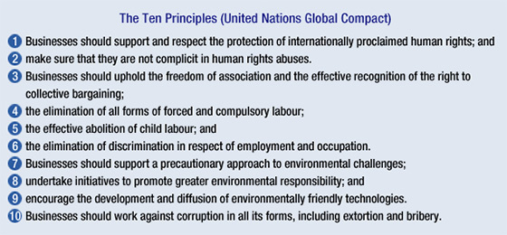 The Ten Principles (United Nations Global Compact)