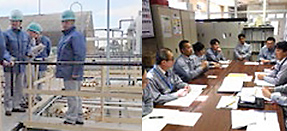 President Koshiba visiting a plant Safety and environment audit process