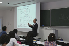 A lecture at Nihon University