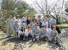 A nature observation tour of the biodiversity promotion area at Tsukuba Research Laboratories