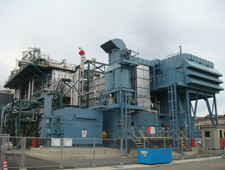 Natural gas-fired turbine cogeneration system (Yokkaichi Plant)