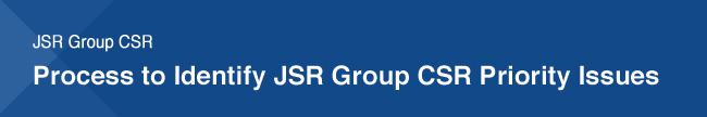 JSR Group CSR Process to Identify JSR Group CSR Priority Issues