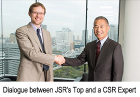 Dialogue between JSR's Top and a CSR Expert