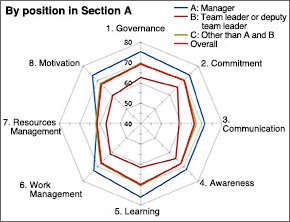 Example of safety culture questionnaire results