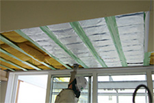 CALGRIP™ being installed in a ceiling